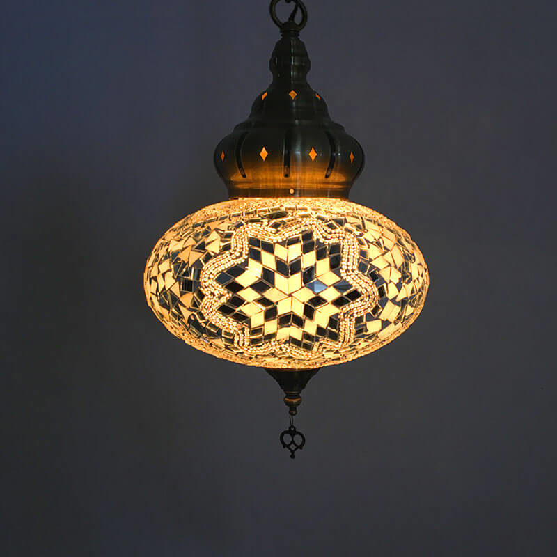 suspension oriental mosaïque yildiz