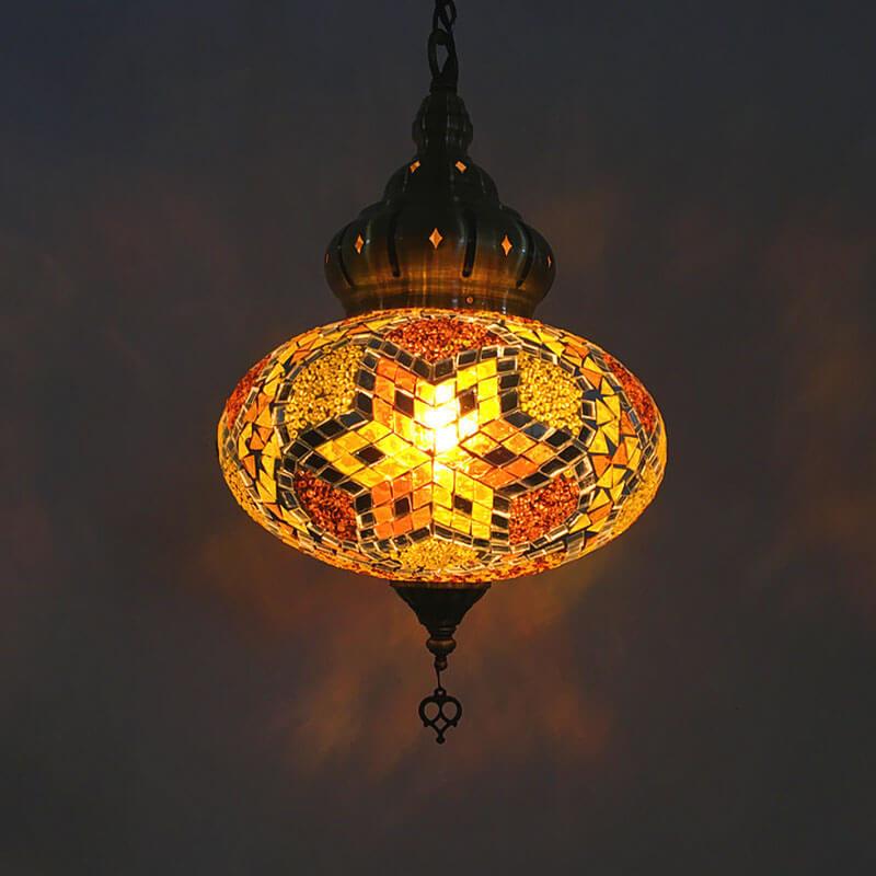 suspension orientale hexa doré muslim mine