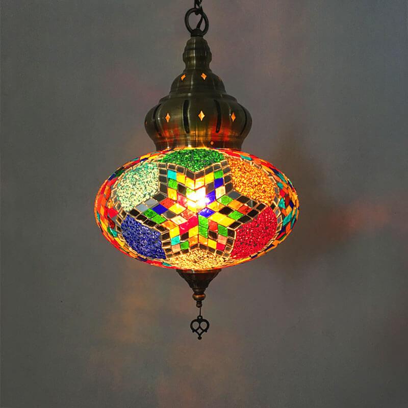 suspension orientale hexa lumineuse muslim mine