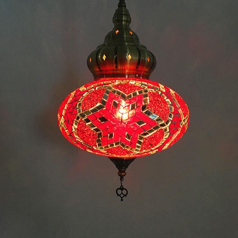 suspension orientale hexa rouge muslim mine