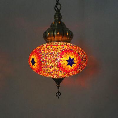 suspension orientale star lumineuse muslim mine