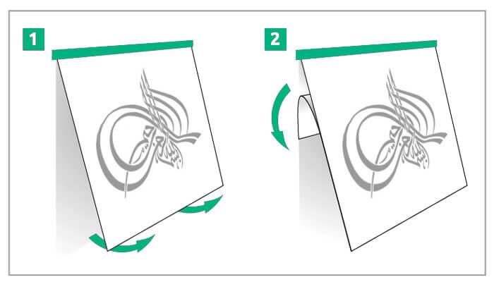 comment poser un sticker droit