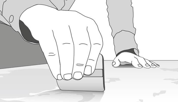 comment poser un sticker etape maroufler