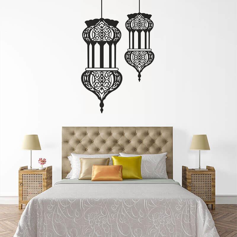 stickers lanterne orientale chambre muslim mine