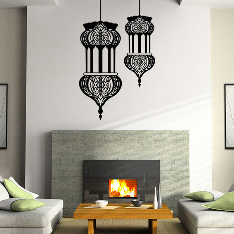 stickers lanterne orientale salon muslim mine