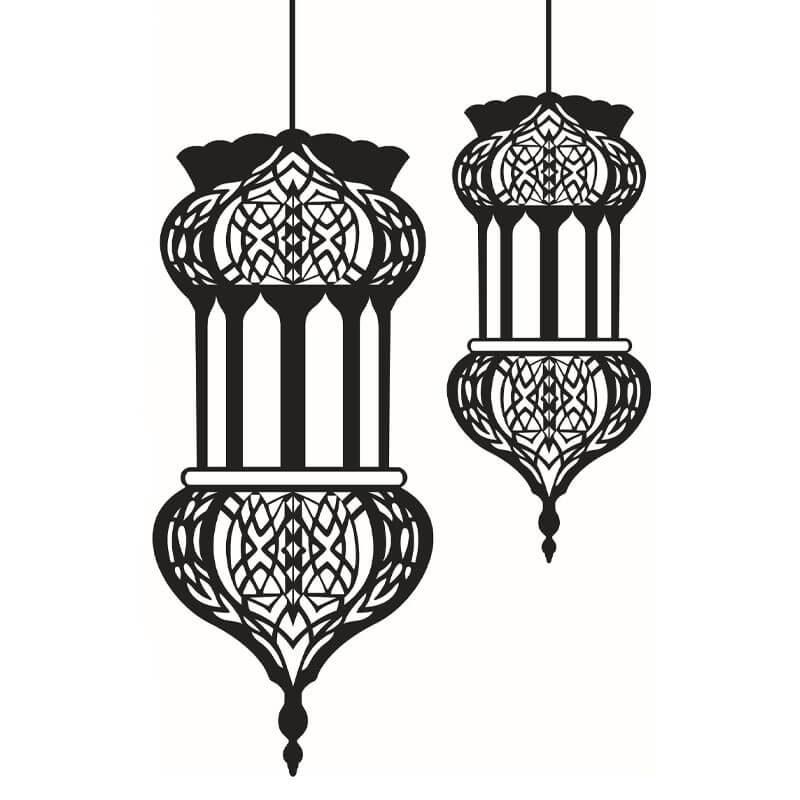 stickers mural lanterne orientale muslim mine